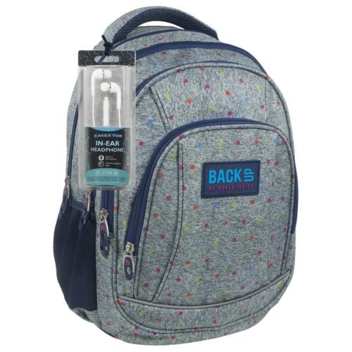 BackUp iskolatáska, hátizsák - 4 rekeszes - Színes pöttyök (PLB1A11)