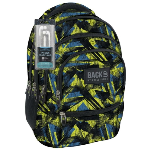 BackUp iskolatáska, hátizsák - 4 rekeszes - Absztrakt (PLB1C29)