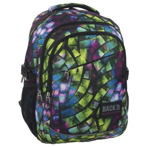 BackUp iskolatáska, hátizsák - 3 rekeszes - Kaleidoszkóp (PLB1G50)