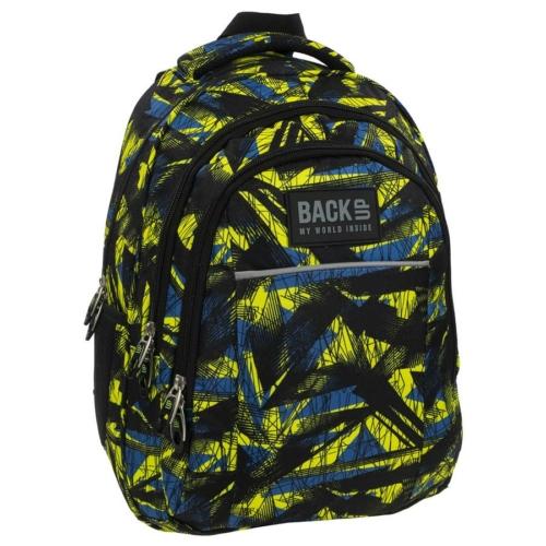 BackUp iskolatáska, hátizsák - 3 rekeszes - Kék-zöld (PLB1H29)