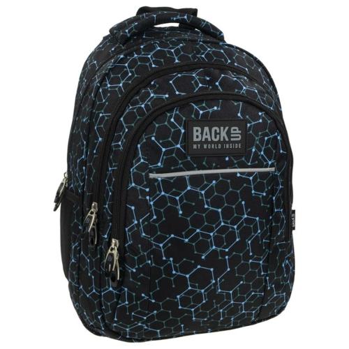 BackUp iskolatáska, hátizsák - 3 rekeszes - Geometria (PLB1H5)
