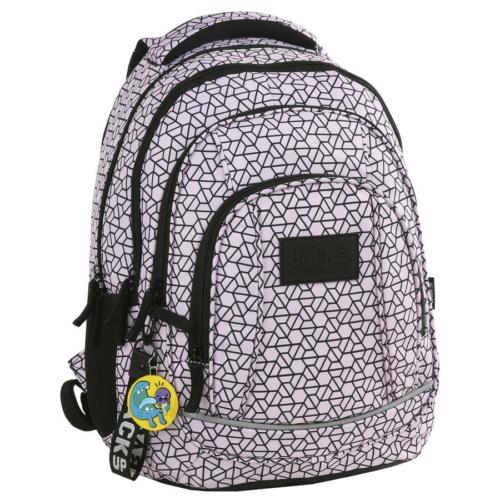 BackUp iskolatáska, hátizsák - 4 rekeszes - Rózsaszín (PLB2A02)