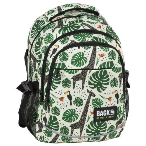 BackUp iskolatáska, hátizsák - 3 rekeszes - Zsiráfok (PLB2G64)