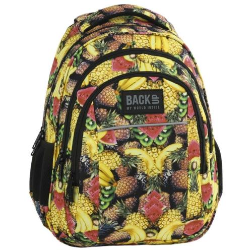 BackUp iskolatáska, hátizsák - 3 rekeszes - Gyümölcsök (PLB2H29)