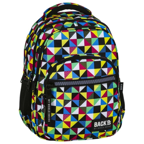 BackUp iskolatáska, hátizsák - 4 rekeszes - Kaleidoszkóp (PLB2M34)