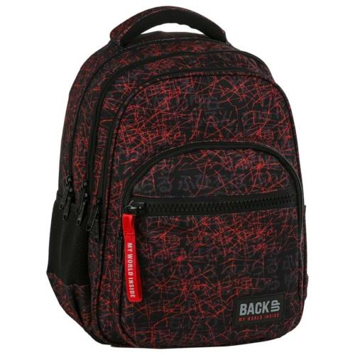 BackUp iskolatáska, hátizsák - 4 rekeszes - Japán betűk (PLB2M47)
