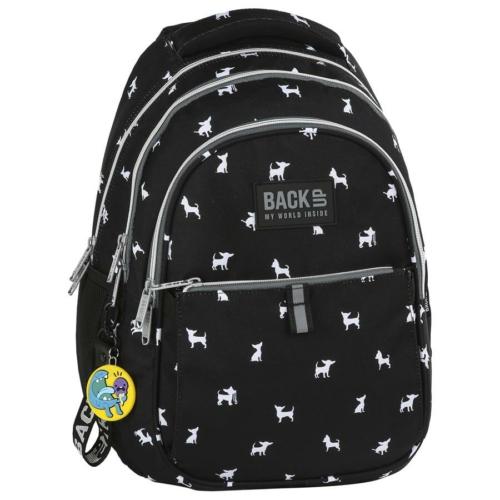 BackUp iskolatáska, hátizsák - 3 rekeszes - Csivavák (PLB2N81)