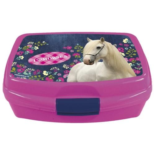 I love horses műanyag uzsonnás doboz  (SKO11)