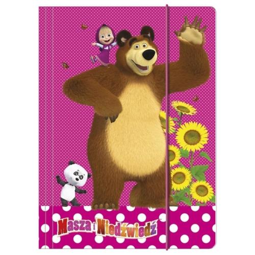 Mása és a medve A/4 gumis mappa (TGA4MN)