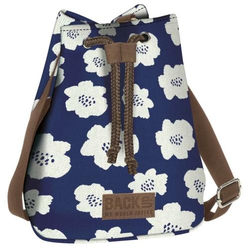 BackUp 2in1 mini vászon hátizsák - Fehér virágok (TPCB2A27)