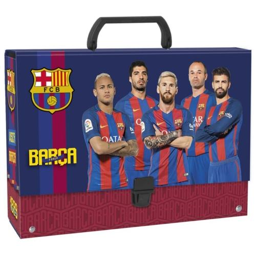 FC Barcelona nagy fogantyús irattartó A4/95 mm (TRGBC)