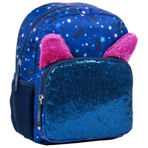 BackUp cicás hátizsák - Kék csillámos