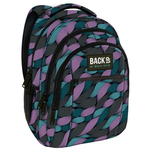 BackUp iskolatáska, hátizsák - 3 rekeszes - Fonatok