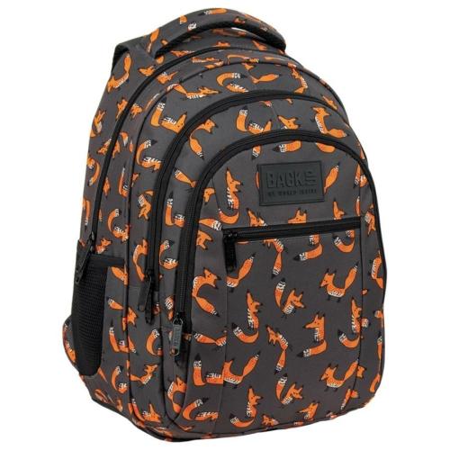 BackUp iskolatáska, hátizsák - 3 rekeszes - Fox