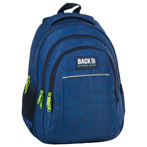 BackUp iskolatáska, hátizsák - 3 rekeszes - Kék hullámok
