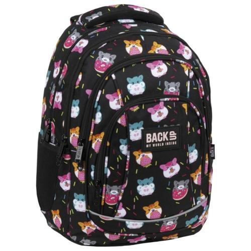 BackUp iskolatáska, hátizsák - 4 rekeszes - Cuki hörcsögök