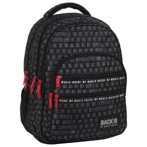 BackUp iskolatáska, hátizsák - 4 rekeszes - Keyboard