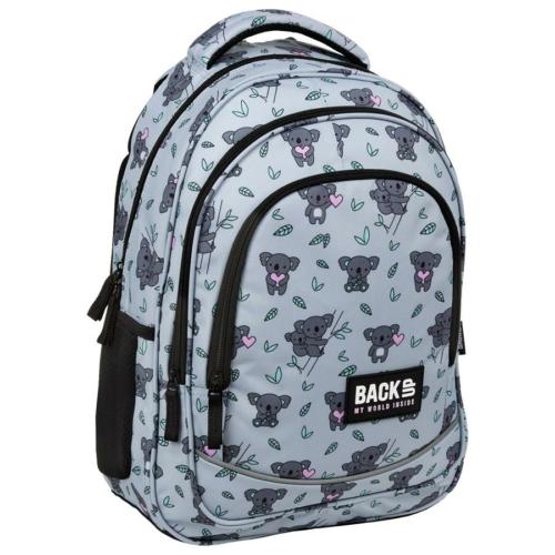BackUp iskolatáska, hátizsák - 3 rekeszes - Koala