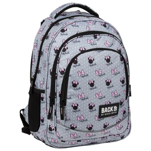 BackUp Minnie Mouse iskolatáska, hátizsák - 3 rekeszes - Grey