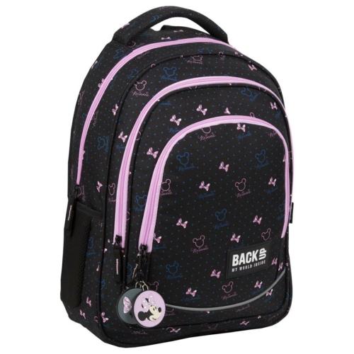 BackUp Minnie Mouse iskolatáska, hátizsák - 3 rekeszes - Black