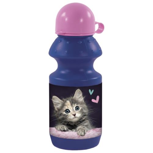 Cleo és Frank cicás műanyag kulacs kupakkal - Meow