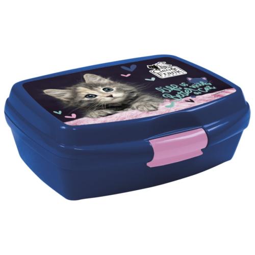 Cleo és Frank cicás műanyag uzsonnás doboz - Life is better