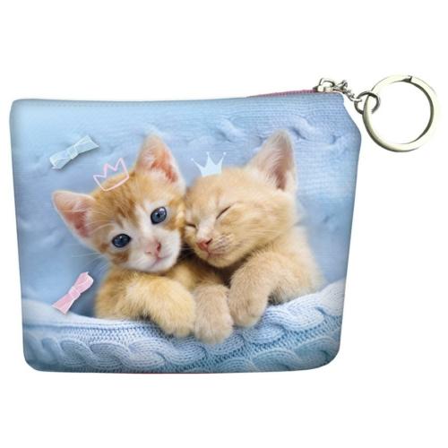 Cleo és Frank cicás pénztárca kulcskarikával - Best friends (PORCF25)
