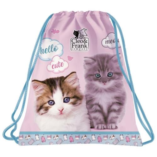 Cleo és Frank cicás tornazsák - Meow