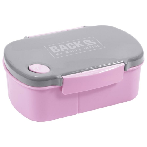 BackUp műanyag csatos uzsonnás doboz - Rózsaszín
