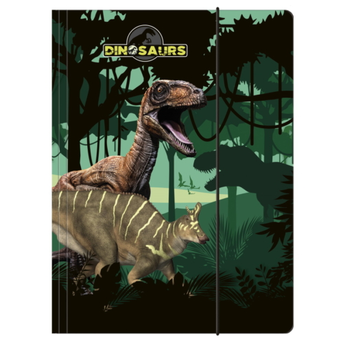 Dinoszauruszok A/4 gumis mappa - A dzsungelben