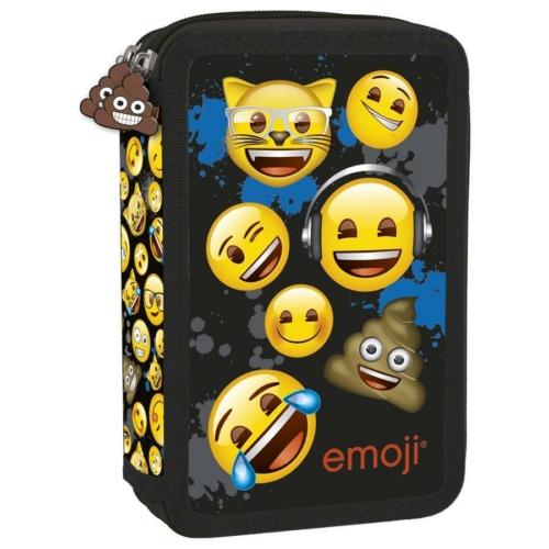 Emoji felszerelt emeletes tolltartó - Blue