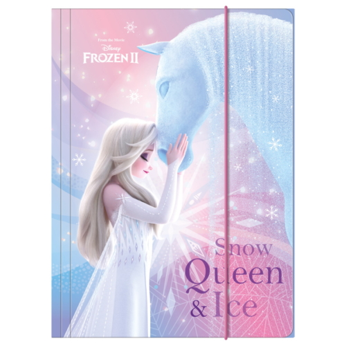 Jégvarázs 2 A/4 gumis mappa - Snow queen