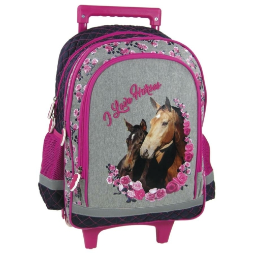 Lovas görgős iskolatáska - I love horses (PL15KKO13)