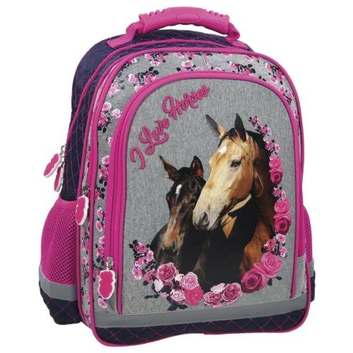 Lovas iskolatáska, hátizsák - I love horses (PL15KO13)