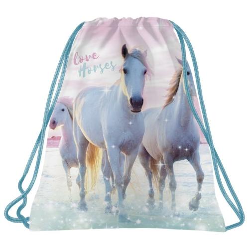 Lovas tornazsák - I love horses -  Rózsaszín