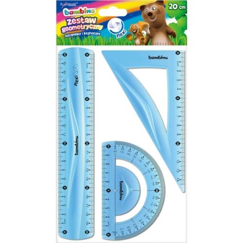 Bambino 3 db-os flexibilis vonalzó szett - 20 cm - ZÖLD (003141)