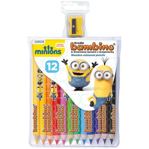 Minyonok színes ceruza - mintás,12 db-os (171765)