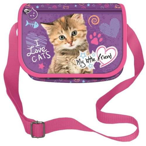 My little friend válltáska külső zsebbel - I Love Cats (241826)