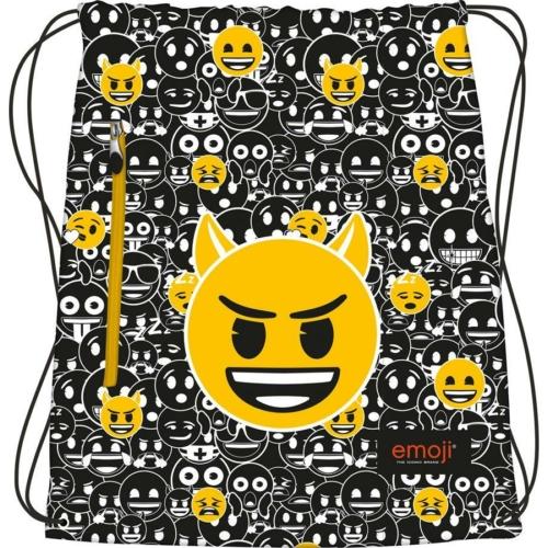 Emoji Black and White zsinóros hátizsák (242168)