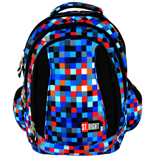 St.Right - Pixelmania Blue  hátizsák, iskolatáska - 4 rekeszes (612015)