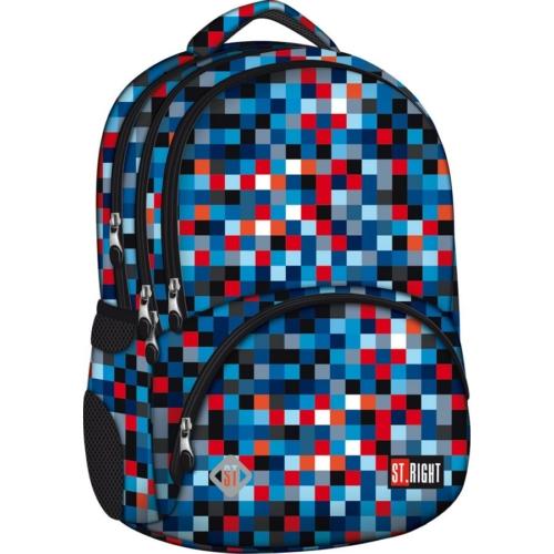 St.Right - Pixelmania Blue hátizsák, iskolatáska - 4 rekeszes (612022)