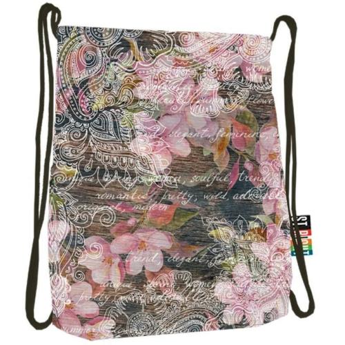 St.Right - Flowers Pink zsinóros hátizsák (613579)