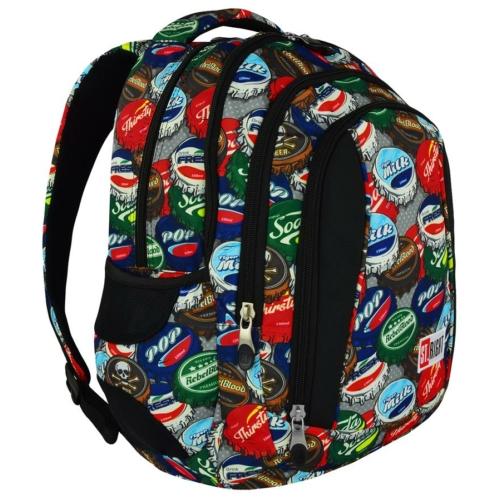 St.Right - Bottle Caps hátizsák, iskolatáska - 4 rekeszes (617461)