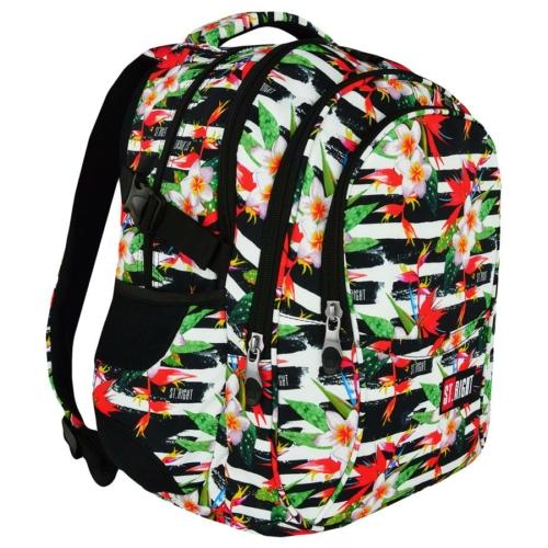 St.Right - Tropical Stripes hátizsák, iskolatáska - 4 rekeszes (618390)
