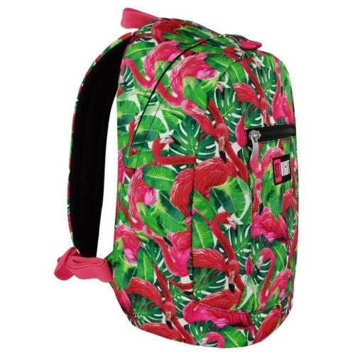 St.Right - Flamingo Pink and Green hátizsák, iskolatáska - 1 rekeszes (618628)