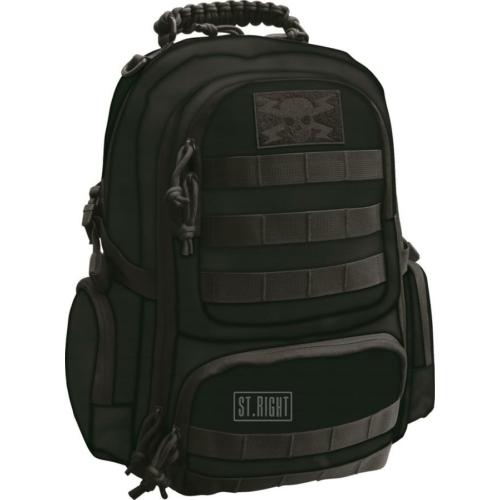 St.Right - Military Black hátizsák, iskolatáska - 4 rekeszes (619823)