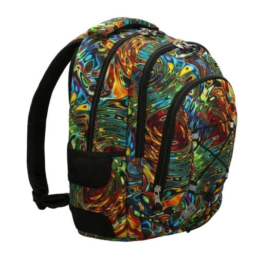 St.Right - Abstraction hátizsák, iskolatáska - 3 rekeszes (620546)