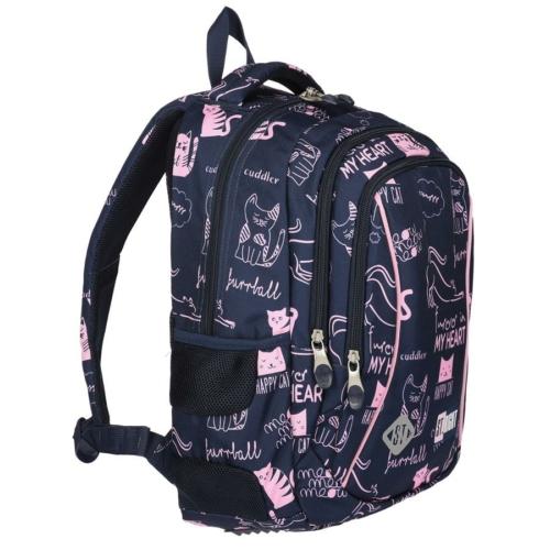 St.Right - Cats hátizsák, iskolatáska - 3 rekeszes (620997)