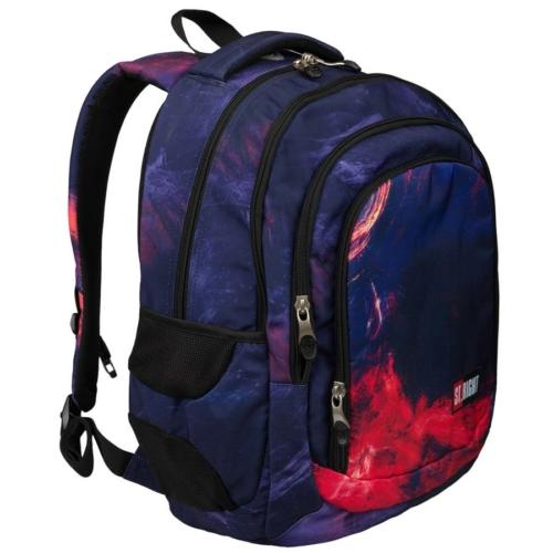 St.Right - Flames hátizsák, iskolatáska - 4 rekeszes (621321)