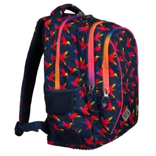 St.Right - Rainbow Birds hátizsák, iskolatáska - 3 rekeszes (622502)